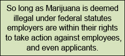 recreational marijuana at work