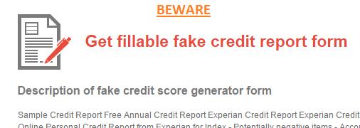 credit template